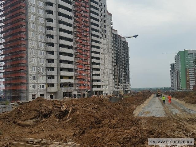 Салават Купере: Дом 13-2, делают дорогу (фото от 06.09.2015)