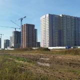 Салават Купере: 13 квартал, дома 13-3, 13-4 и 13-1 вид с поля (фото 13 сентября 2015)