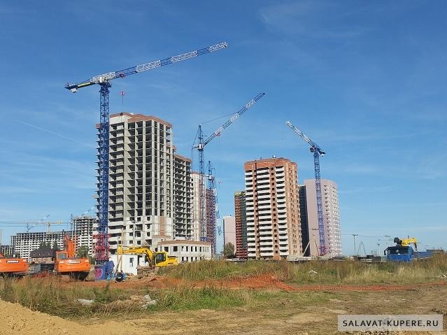 Салават Купере: 13 квартал - дома 13-1, 13-4 и 13-3 (фото 13 сентября 2015)