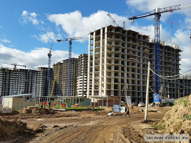 Салават Купере: Дома 10-3, 10-2 и 10-1 (фото 4 октября 2015)