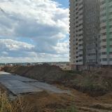 Салават Купере: дорога у дома 10-4 (фото 16 августа 2015)