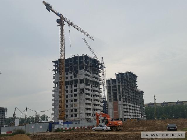 Салават Купере: Дома 12-2 и 12-1 вид с улицы (фото 6 сентября 2015)